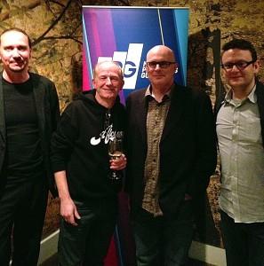 Left to right: Dominique Brulhart (Merging Technologies), Barry Grint (Alchemy Mastering), Steve Penn (Prism Sound), Emanuel Hoisl (Magix) photo: Charlie Slee
