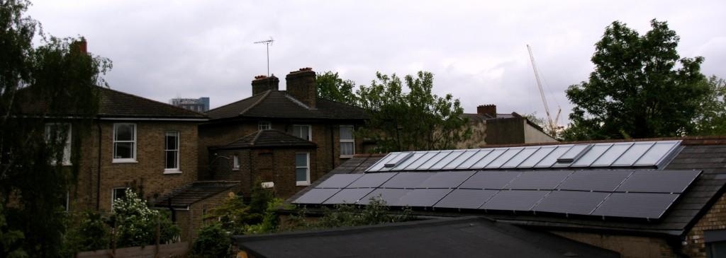 Black Saloon solar panels