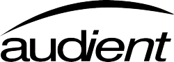 Audient logo black
