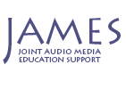 JAMES white logo
